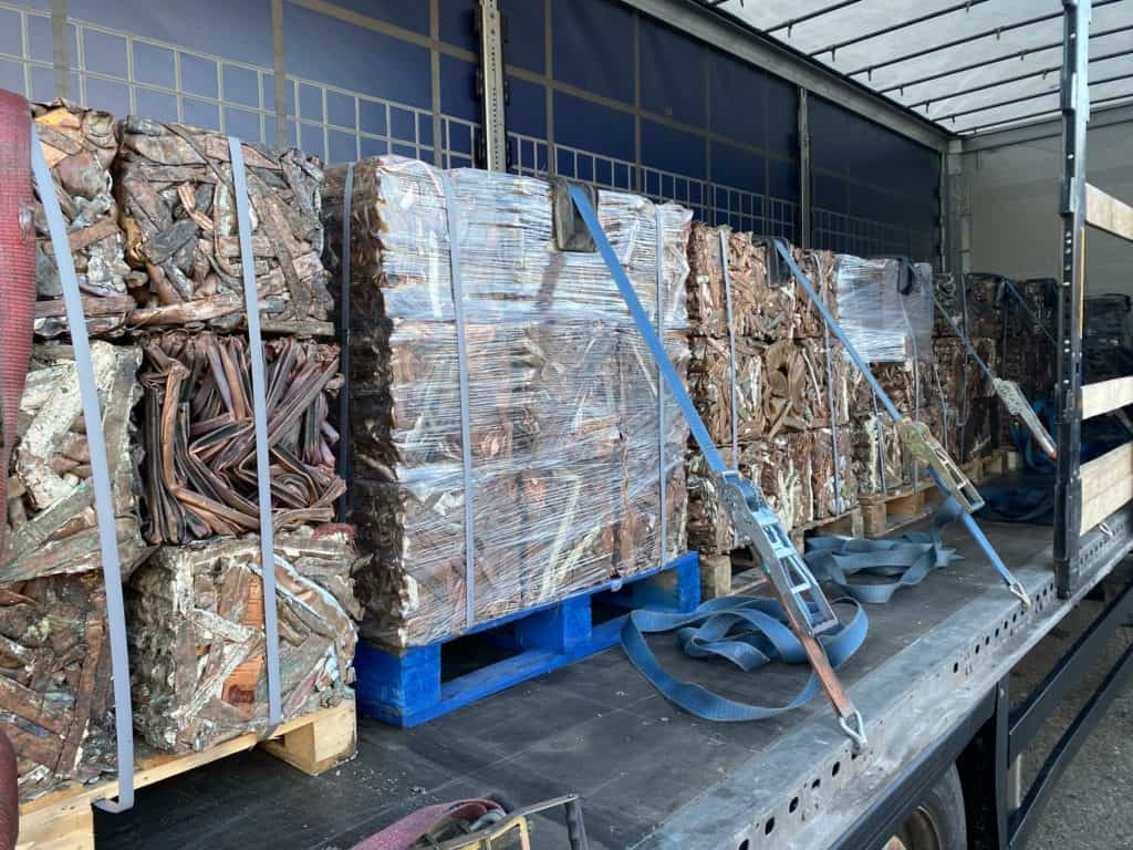 Metal recycled, on lorry and ready to go
