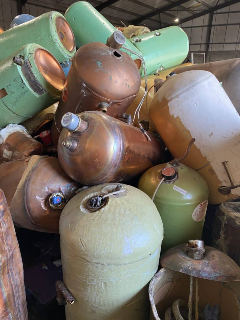 sell scrap metal containers